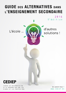 Page de couverture du Guide des alternatives dans l'enseignement secondaire